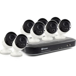 Swann Pro Series 8-Channel 5MP DVR with 2TB HDD and 8 5MP Outdoor Bullet Cameras