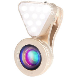 UmAid 3-In-1 Light with Lens Kit for Smartphones (Gold)