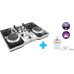 Hercules DJControl Instinct S Series Party Pack - DJ Controller and LED Light