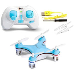 Top Race 4-Channel Micro Quadcopter (Blue)