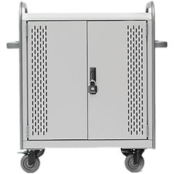 Bretford Pulse 30L MDMLAP30BP-90D Storage and Charging Cart (with Removable Back Plate)