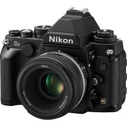 Nikon Df DSLR Camera with 50mm f/1.8 Lens (Black, Refurbished)