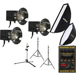 Novatron D1500 Three Fan-Cooled Head Kit with Two Softboxes  sc 1 st  Bu0026H & Novatron | Bu0026H Photo Video azcodes.com