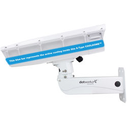 Dotworkz S-Type COOLDOME 12 VDC Active Cooling Camera Enclosure with Stainless Steel Arm