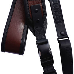 Heavy Leather NYC Skinny Leather Sling Camera Strap (Brown)