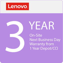 Lenovo 3-Year On-Site NBD Warranty Upgrade from 1-Year Depot / CCI