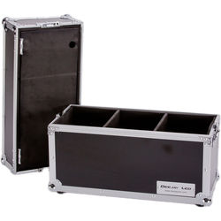 DeeJay LED Case for 18 Microphones with Storage Compartment