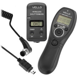 Vello Wireless ShutterBoss III Remote Switch with Digital Timer for Select Nikon Cameras