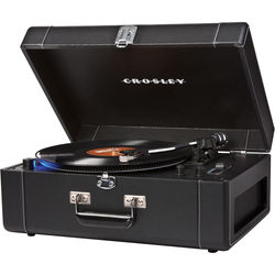 Crosley Radio Keepsake Deluxe Suitcase-Style Turntable with Built-In Preamp
