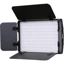 "Intellytech Nitro 15 Bi-Color 5.75 x 3.75"" Bi-Color On-Camera LED Panel Light with Barndoors"