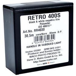 Rollei Retro 400S Black and White Negative Film (35mm Roll Film, 100' Roll)