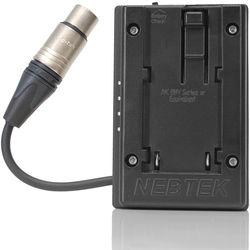 Nebtek JVC Passthrough DV Battery Plate with XLR Connector