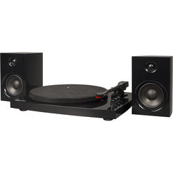 Crosley Radio T100A Stereo Turntable System with Speakers (Black)