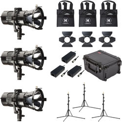 HIVE LIGHTING 3-Piece Wasp 100-C LED Spot Light Kit with 3 Stands & Custom Foam Case