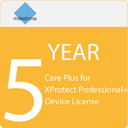 Milestone Care Plus for XProtect Professional+ Device License (5-Year)