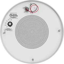 """Atlas Sound 8"""" Dual Cone Sound Masking Loudspeaker with 4W/70V Transformer and Round Enclosure (White)"""