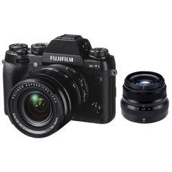 Fujifilm X-T1 Mirrorless Digital Camera with 18-55mm and 35mm Lenses Kit (Black)