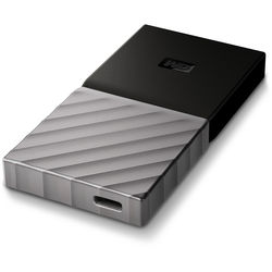 WD 256GB My Passport USB 3.1 Type-C External Solid State Drive
