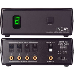 Inday DA4X-R SPDIF 4x1 Digital Audio Switcher