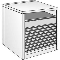"Just Normlicht System Cabinet 0B 15/8 (19.7 x 27.6"")"