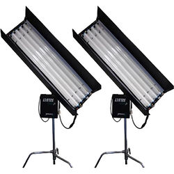 CAME-TV 4' 4-Bank 300W Fluorescent Light Kit with 16 Tubes