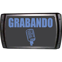 American Recorder OAS-2002BL-SP RECORDING Sign with LEDs (Spanish, Blue)