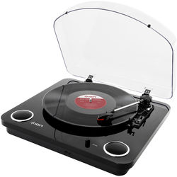 ION Audio Max LP Conversion Turntable With Stereo Speakers (Black)