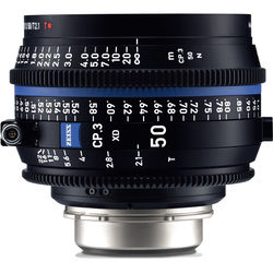 ZEISS CP.3 XD 50mm T2.1 Compact Prime Lens (PL Mount, Feet)