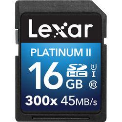 Lexar 16GB Platinum II UHS-I 300x SDHC Memory Card (Class 10)