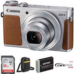 Canon PowerShot G9 X Digital Camera Deluxe Kit (Silver)