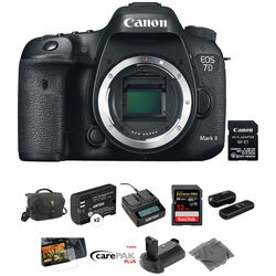 Canon EOS 7D Mark II DSLR Camera Body with Deluxe Photo Kit