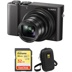 Panasonic Lumix DMC-ZS100 Digital Camera Basic Kit (Black)