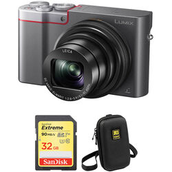 Panasonic Lumix DMC-ZS100 Digital Camera Basic Kit (Silver)