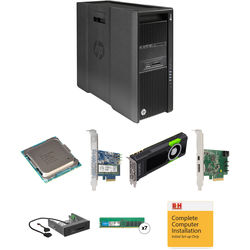 HP Z840 Series Turnkey Workstation with 2x Xeon E5-2620 v4, 64GB RAM, 512GB PCIe SSD, Quadro M5000, Thunderbolt 2 Card, and Media Card Reader