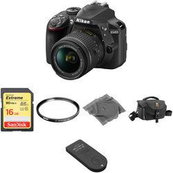 Nikon D3400 DSLR Camera with 18-55mm Lens Basic Kit (Black)