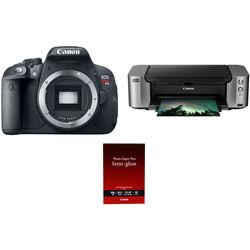 Canon EOS Rebel T5i DSLR Camera Body with Inkjet Printer Kit