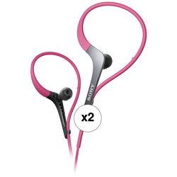 Sony MDR-AS400EX Active Series Sport Headphones (Pink, 2-Pack)