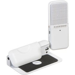 Samson Go Mic USB Microphone for Mac and PC Computers (White)