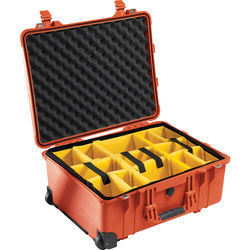 Pelican 1564 for the Waterproof 1564 Case with Yellow and Black Divider Set (Orange)