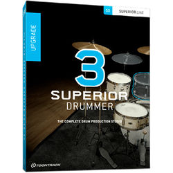 Toontrack Superior Drummer 3 Upgrade - Virtual Instrument and Drum Production Plug-In (Download)