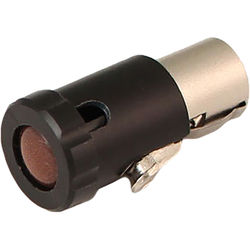 Cable Techniques Low-Profile Female TA3F Connector with 90-Degree Left Side-Exit (Brown)