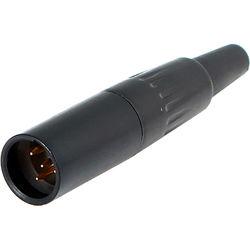 Cable Techniques TA4M 4-Pin Male Mini-XLR Connector (Black)