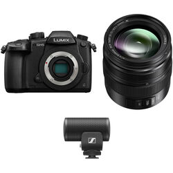 Panasonic Lumix DC-GH5 Mirrorless Micro Four Thirds Digital Camera with 12-35mm Lens & Microphone Kit