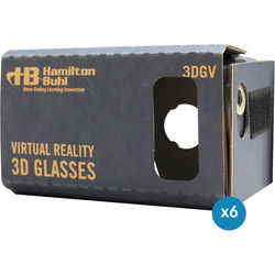 HamiltonBuhl DIY Cardboard Virtual Reality Goggles for Smartphones (6-Pack)