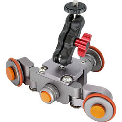 Gyrovu mini motorized camera dolly with mini swivel mounts for Motorized video camera mount