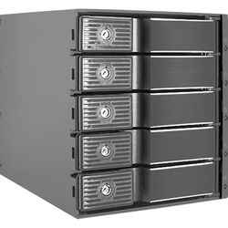 """Kingwin Internal Tray-Less Hot-Swap Mobile Rack for 5x 3.5"""" HDDs"""