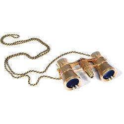 Levenhuk Broadway 325F Opera Glasses with Chain (Gold)