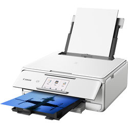 Canon PIXMA TS8120 Wireless All-in-One Inkjet Printer (White)