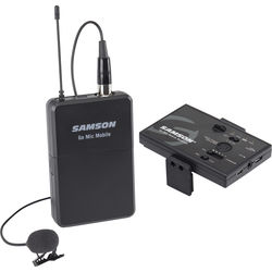 Samson Go Mic Mobile Digital Wireless System with LM8 Lavalier and Belt Pack Transmitter