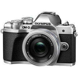 Olympus OM-D E-M10 Mark III Mirrorless Micro Four Thirds Digital Camera with 14-42mm EZ Lens (Silver)